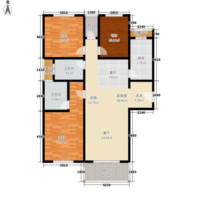 江南缘135.00㎡c房型面积13500m户型