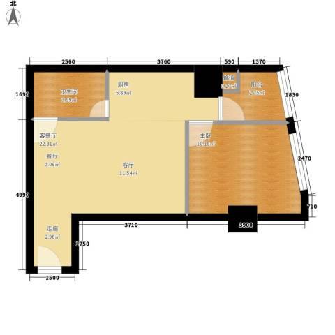美力・com1室1厅1卫0厨57.00㎡户型图