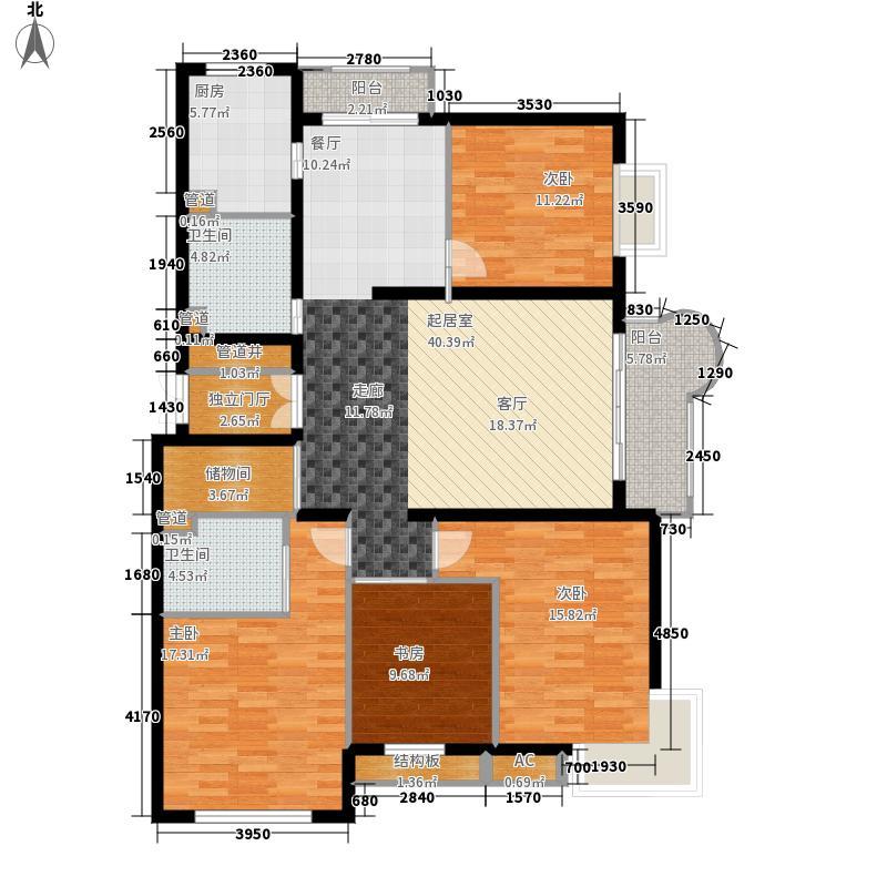 悦城G4-5号楼户型4室2厅