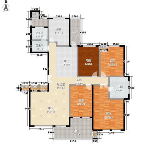 华城世家4室0厅3卫1厨220.00㎡户型图