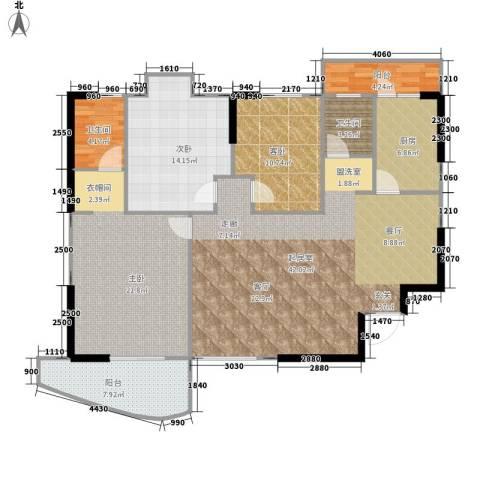 圣特立国际花园3室0厅2卫1厨125.00㎡户型图