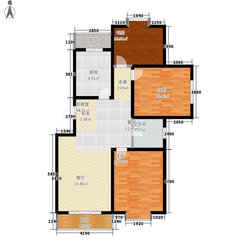 菊芳园131.73㎡17号楼4门标准层D户型
