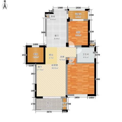 玫瑰恬园2室0厅1卫0厨95.00㎡户型图