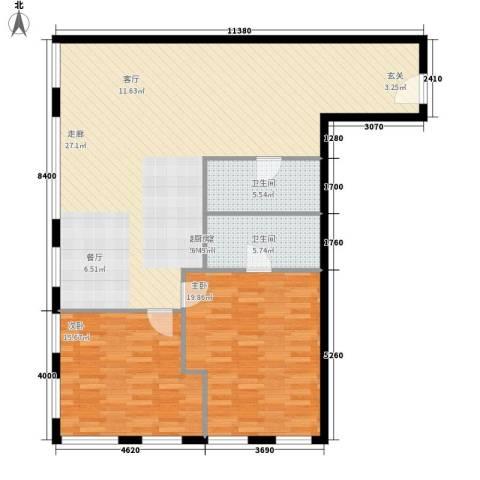 巨华琦琳北辰2室0厅2卫0厨151.00㎡户型图