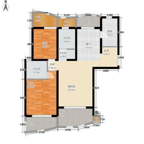 城市经典四期高迪2室0厅2卫1厨112.54㎡户型图