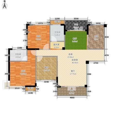 圣特立国际花园3室0厅2卫1厨132.00㎡户型图
