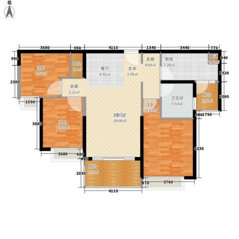 恒大名都3室0厅1卫1厨106.00㎡户型图