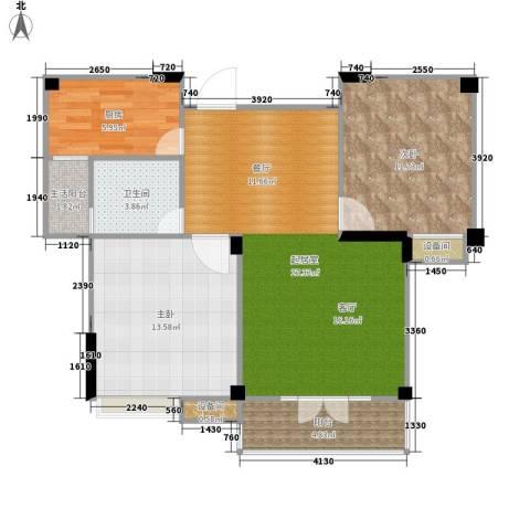 圣特立国际花园2室0厅1卫1厨72.00㎡户型图