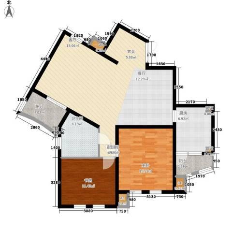 城市经典四期高迪2室0厅1卫1厨103.00㎡户型图