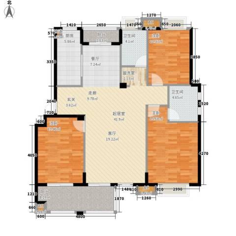 春天里3室0厅2卫1厨121.00㎡户型图