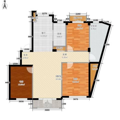 葫芦岛加州海岸3室0厅1卫1厨145.00㎡户型图