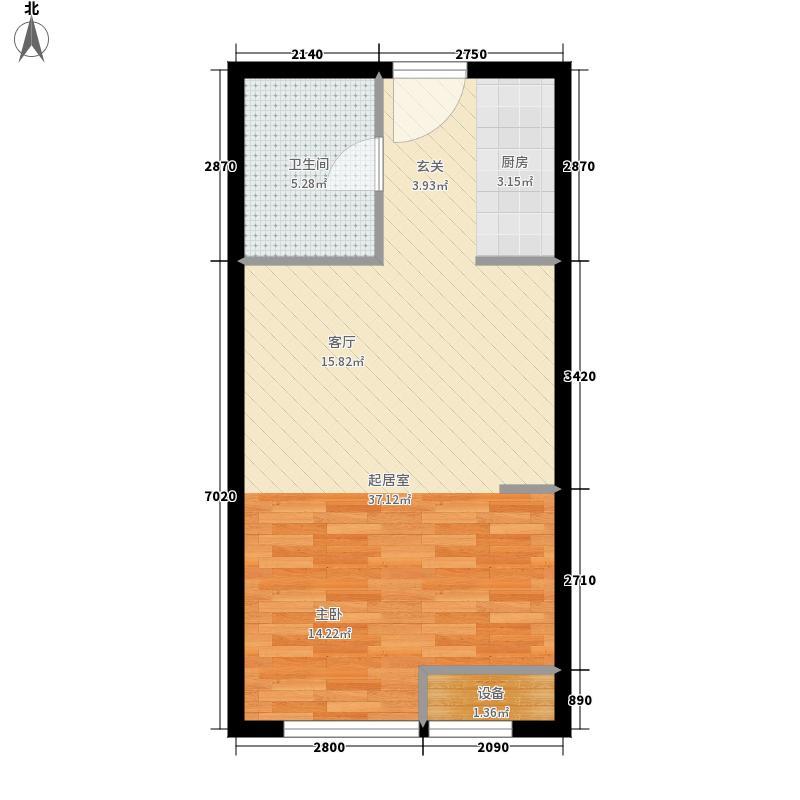 翠园公寓48.40㎡B`户型