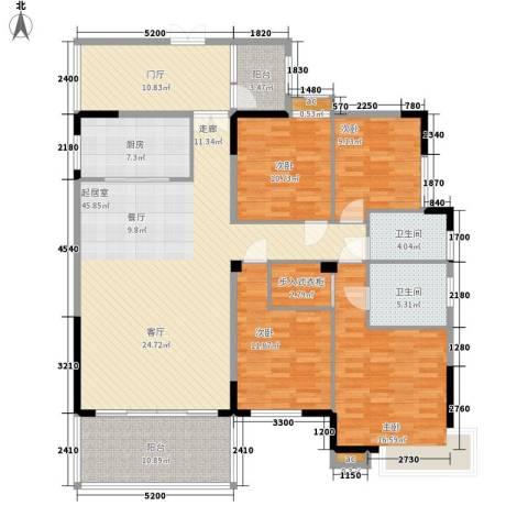 蟠龙花园4室0厅2卫1厨175.00㎡户型图