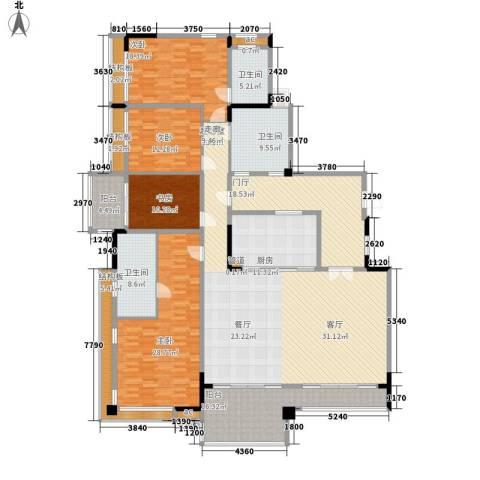 蟠龙花园4室0厅3卫1厨218.36㎡户型图