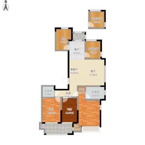 紫金城3室1厅2卫1厨193.00㎡户型图