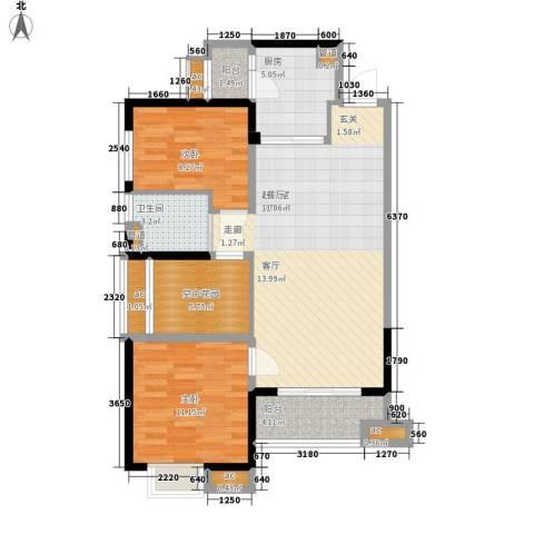 万科大栖地2室0厅1卫1厨88.00㎡户型图