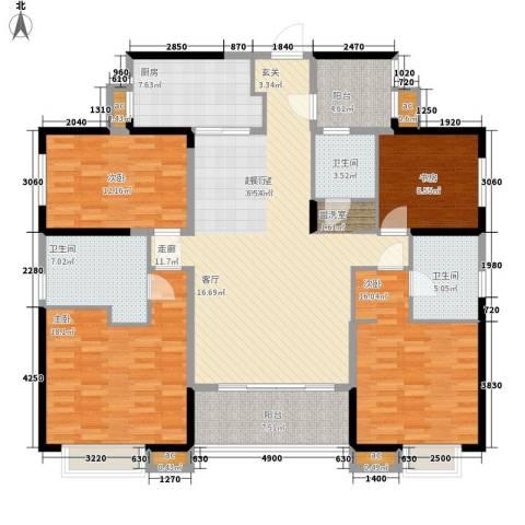 万科大栖地4室0厅3卫1厨171.00㎡户型图