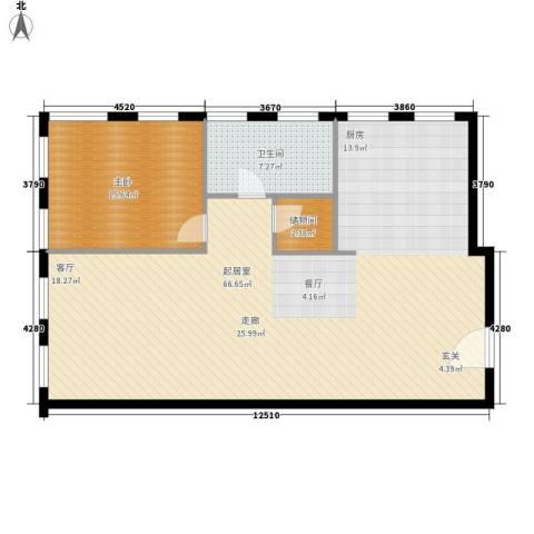 巨华琦琳北辰1室0厅1卫0厨142.00㎡户型图