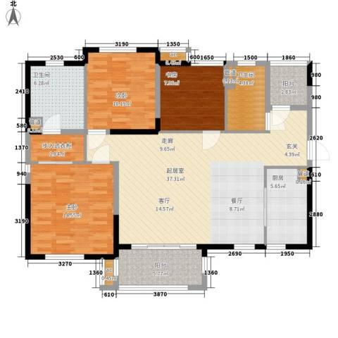 万科大栖地3室0厅2卫1厨133.00㎡户型图