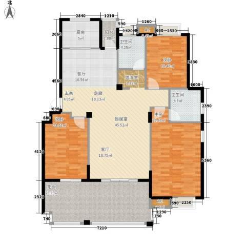春天里3室0厅2卫1厨141.00㎡户型图