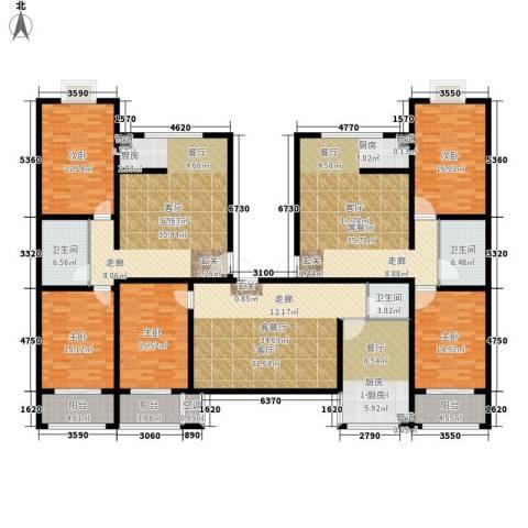 戴河新城5室3厅3卫1厨230.30㎡户型图