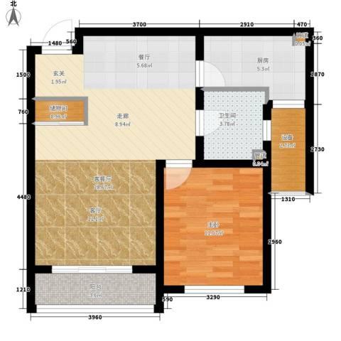 荣馨园1室1厅1卫1厨80.00㎡户型图