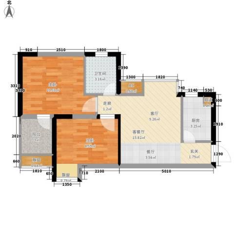 金运花园2室1厅1卫1厨94.00㎡户型图