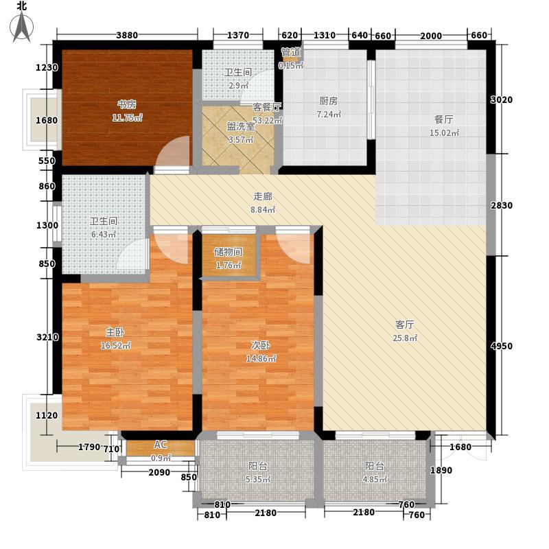 新合鑫睿智禧园143.50㎡户型3室2厅