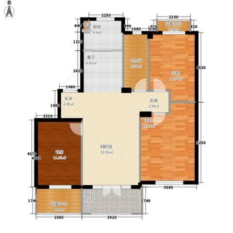葫芦岛加州海岸3室0厅1卫1厨133.00㎡户型图