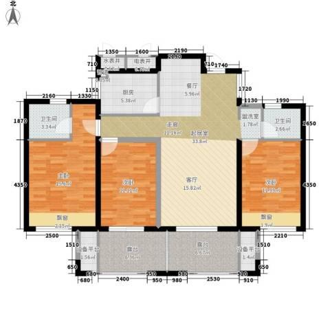 蔚兰星城3室0厅2卫1厨120.00㎡户型图