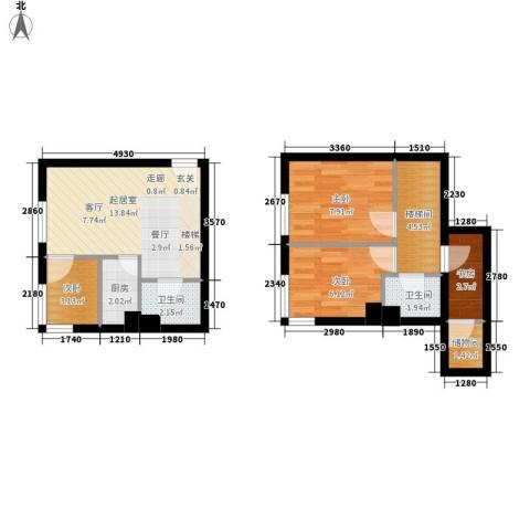 万豪君悦府4室0厅2卫1厨54.00㎡户型图