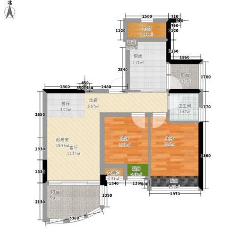 碧桂园椰城2室0厅1卫1厨69.00㎡户型图
