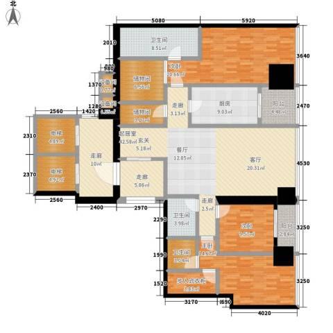 融创玖玺台3室0厅3卫1厨165.00㎡户型图