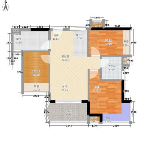 碧桂园椰城2室0厅1卫1厨77.35㎡户型图
