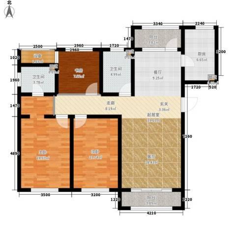 荣馨园3室0厅2卫1厨151.00㎡户型图