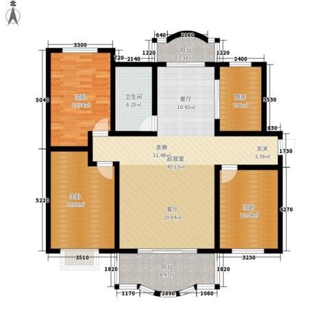 米兰紫芥园3室0厅1卫1厨159.00㎡户型图