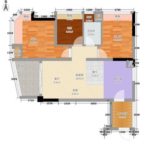 碧桂园椰城3室0厅1卫0厨81.32㎡户型图