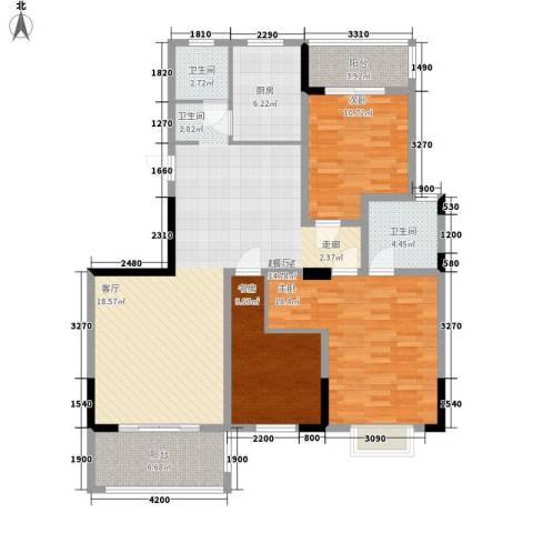 冠豪星城雅郡3室0厅2卫1厨143.00㎡户型图