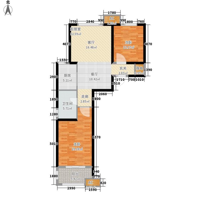 9號院92.69㎡院一期12号楼C-1(3)户型
