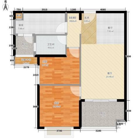 恒大名都2室0厅1卫1厨115.00㎡户型图