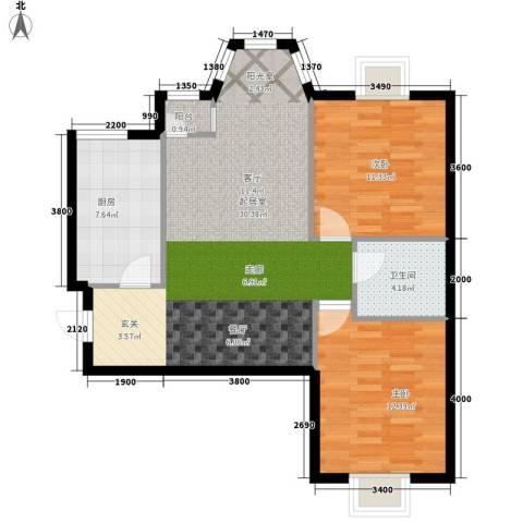 珠江逸景家园2室0厅1卫1厨93.00㎡户型图
