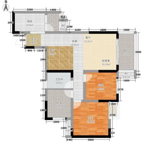 贵博江上明珠2室0厅1卫1厨113.00㎡户型图