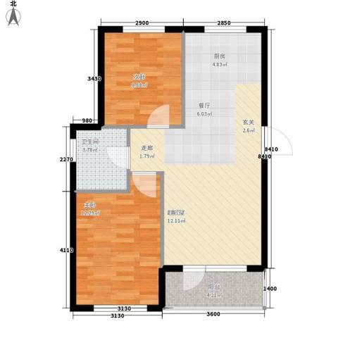 葫芦岛加州海岸2室0厅1卫0厨78.00㎡户型图