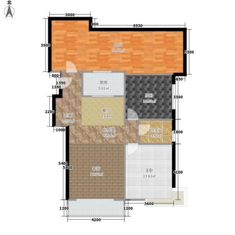 京东领秀城2室0厅1卫1厨105.91㎡户型图