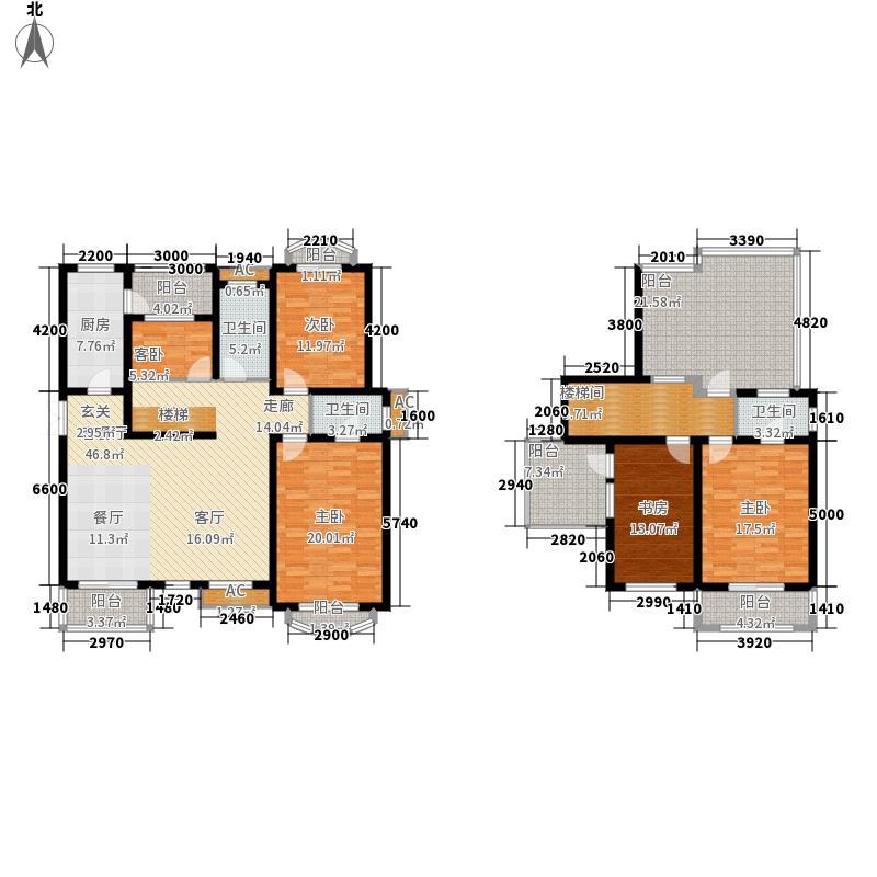 阳光骏景203.00㎡D五室两厅一厨三卫户型5室2厅3卫