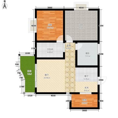 海德福苑3室1厅1卫1厨105.00㎡户型图