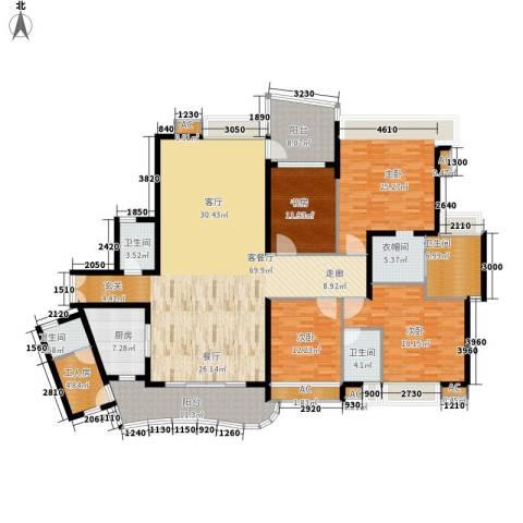 广州雅居乐花园・天域4室1厅4卫1厨212.00㎡户型图