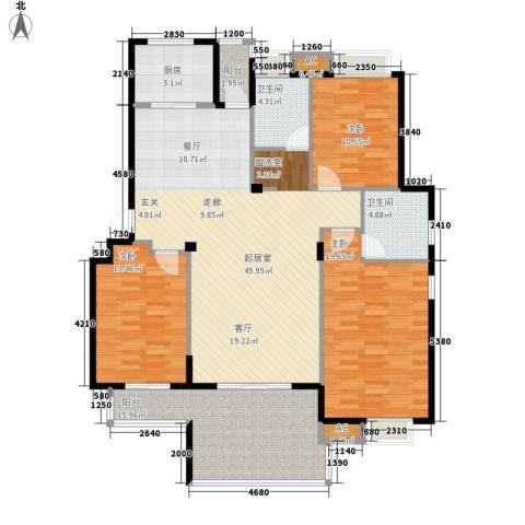 春天里3室0厅2卫1厨137.00㎡户型图