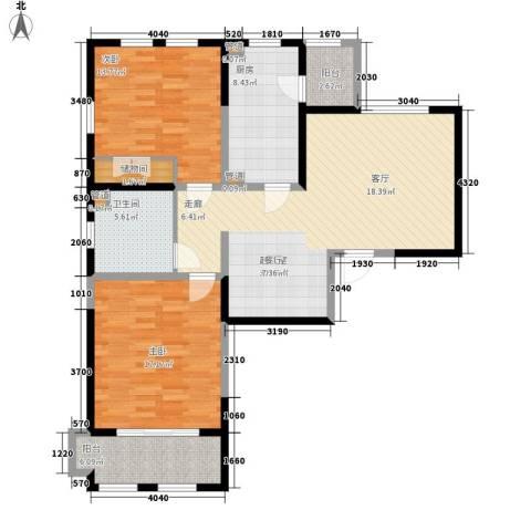 城市经典四期高迪2室0厅1卫1厨100.00㎡户型图