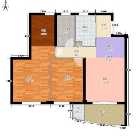 长岛府2室0厅1卫1厨105.00㎡户型图